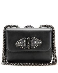 Christian Louboutin Black Sweet Charity Leather Shoulder Bag