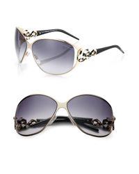 Roberto Cavalli - Metallic Bellatrix Swarovski Crystal Serpent Sunglasses - Lyst