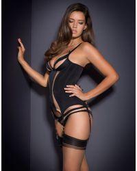 Agent Provocateur Evalyne Basque Black/nude