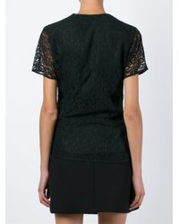 Carven - Green Lace Top - Lyst