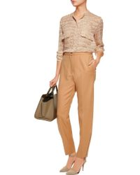 Stella McCartney - Brown Wool-twill Straight-leg Pants - Lyst