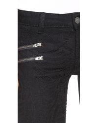 Siwy Black Mickie Zip Skinny Jeans - Doll Face