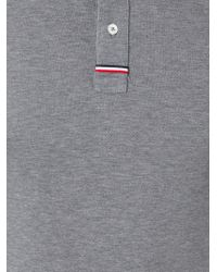 Moncler Gamme Bleu Gray Classic Polo Shirt for men