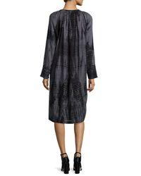 Antik Batik Black Inu Djellebah Long-sleeve Shift Dress