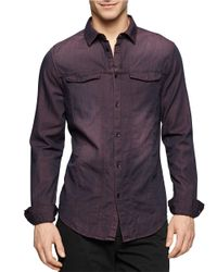 Calvin Klein Jeans | Purple Cotton Sportshirt for Men | Lyst