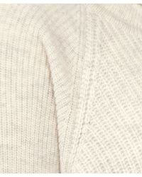 Vince White Side Zip Detail Wool-cashmere Knitted Turtleneck
