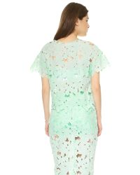 Re:named | Green Short Sleeve Flower Tee Mint | Lyst