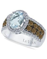 Le Vian | Blue Aquamarine (1-3/8 Ct. T.w.) And Diamond (3/4 Ct. T.w.) In 14k White Gold | Lyst