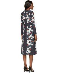 Erdem | Blue Silk Suria Dress | Lyst