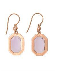 Irene Neuwirth | Purple Diamond, Rose De France & Gold Earrings | Lyst