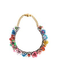 Shourouk - Multicolor Daisy Necklace - Lyst