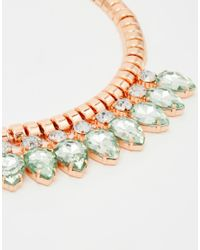 Ted Baker | Green Pear Drop Necklace | Lyst