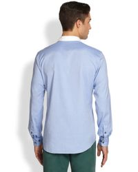 Façonnable | Blue Cotton Pocket Sportshirt for Men | Lyst