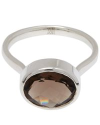 Monica Vinader - Metallic Silver Smoky Quartz Candy Ring - Lyst