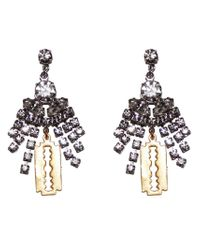 Tom Binns | Black Chandelier Razor Blade Earrings | Lyst