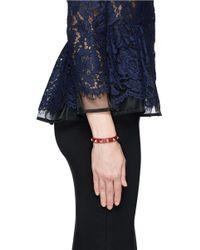 Valentino - Red 'rockstud' Skinny Leather Bracelet - Lyst