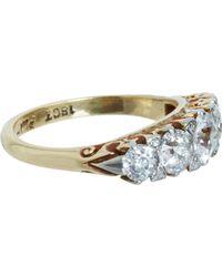 Olivia Collings - Metallic Five Old Cut Diamond Ring - Lyst