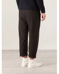 Mando | Brown Dropped Crotch Trousers for Men | Lyst
