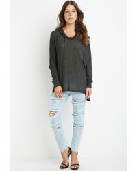 Forever 21 - Gray Oversized Hooded Top - Lyst