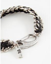 Icon Brand - Black Metal Woven Bracelet for Men - Lyst