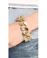 Lee Angel | Metallic Curb Chain Bracelet | Lyst