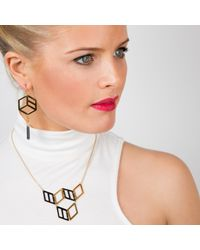 Anna Byers - Metallic Hex Small Cube Necklace - Lyst