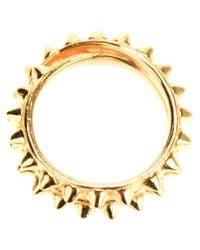 Tom Binns | Metallic Double Pyramid Stud Ring | Lyst