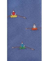 Richard James Blue Rowing Boats Tie for men