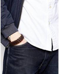 Seven London | Brown Woven Bracelet for Men | Lyst