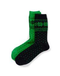 Ralph Lauren - Green Snowflake Trouser Socks - Lyst