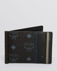 MCM | Black Munich Lion Money Clip Wallet for Men | Lyst