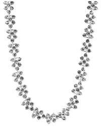 Anne Klein | Metallic Silver-tone Glass Crystal Collar Necklace | Lyst