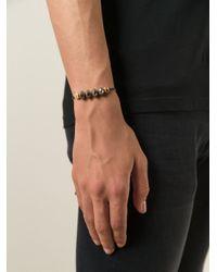 Saint Laurent | Brown Beaded Bracelet for Men | Lyst