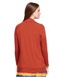 Brooks Brothers - Orange Jersey Knit Bolero Cardigan - Lyst