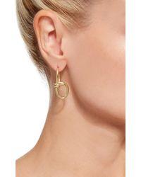Lauren Klassen - Metallic Double Link Chain Earrings With Diamonds - Lyst