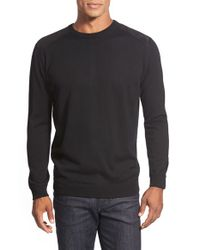 Bugatchi | Black Merino Wool Crewneck Sweater for Men | Lyst