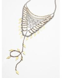 Free People | Metallic Womens Chainmail Bandana Necklace | Lyst