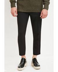 Forever 21   Black Creased Trousers for Men   Lyst