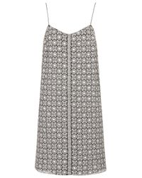 TOPSHOP | Metallic Silver Brocade Strappy Dress  | Lyst