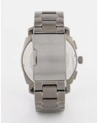 Fossil - Gray Machine Watch In Stainless Steel - Silver for Men - Lyst
