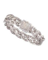 John Hardy | Metallic Diamond Braided Chain Bracelet | Lyst