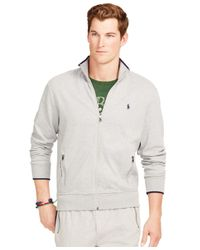 Polo Ralph Lauren | Gray Full-zip Interlock Track Jacket for Men | Lyst