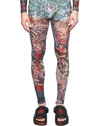 DSquared² - Multicolor Tattoo Printed Sheer Tulle Jumpsuit for Men - Lyst