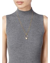 Chloé | Metallic 'danny' Pearl Ring Pendant Necklace | Lyst