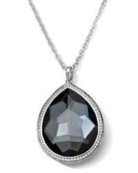 Ippolita Metallic Stella Medium Hematite Teardrop Pendant Necklace