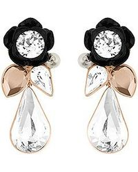 Swarovski | White Bouquet Pierced Earrings | Lyst