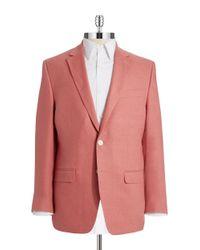 Lauren by Ralph Lauren | Red Linen Two Button Blazer for Men | Lyst