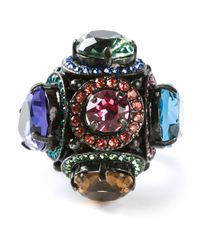 Lanvin | Multicolor Multifaceted Cocktail Ring | Lyst