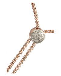 Monica Vinader Pink Fiji Rose Gold-Plated Diamond Bracelet