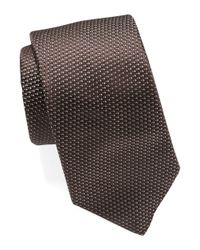 Michael Kors | Brown Silk Micro Dot Tie for Men | Lyst